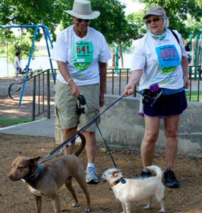 GSDFW Run for the Environment dog walkers