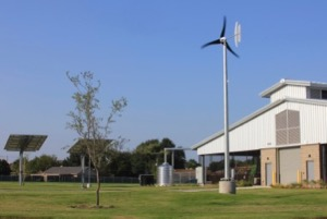 AISD Ag Center wind turbine