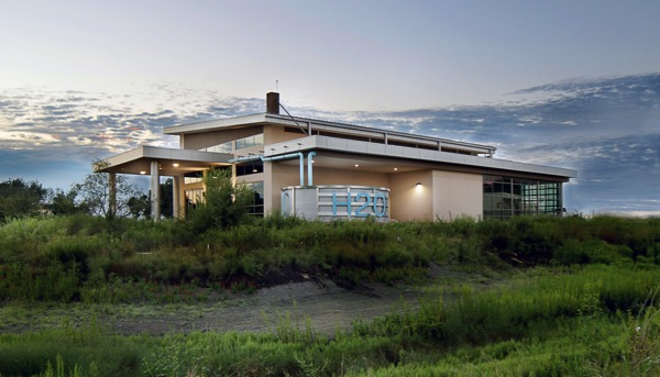 The Water and Land Resources Building and Benny J. Simpson Ecopark