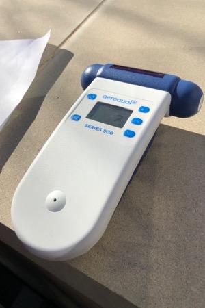 Portable air monitor
