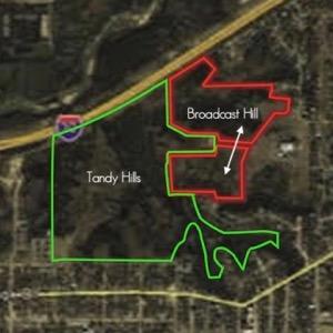 Broadcast Hill map