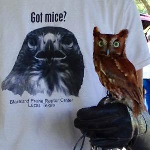 Blackland Prairie Raptor Center t-shirt