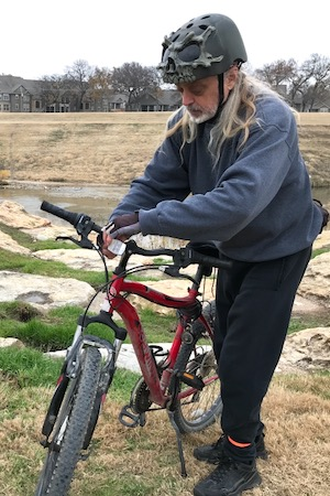 Tom Frye on the Fort Worth Trinity Trails