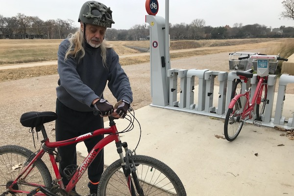 Tom Frye on the Fort Worth Trinity Trail