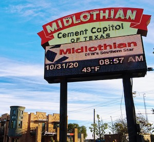 Midlothian Cement Capitol sign