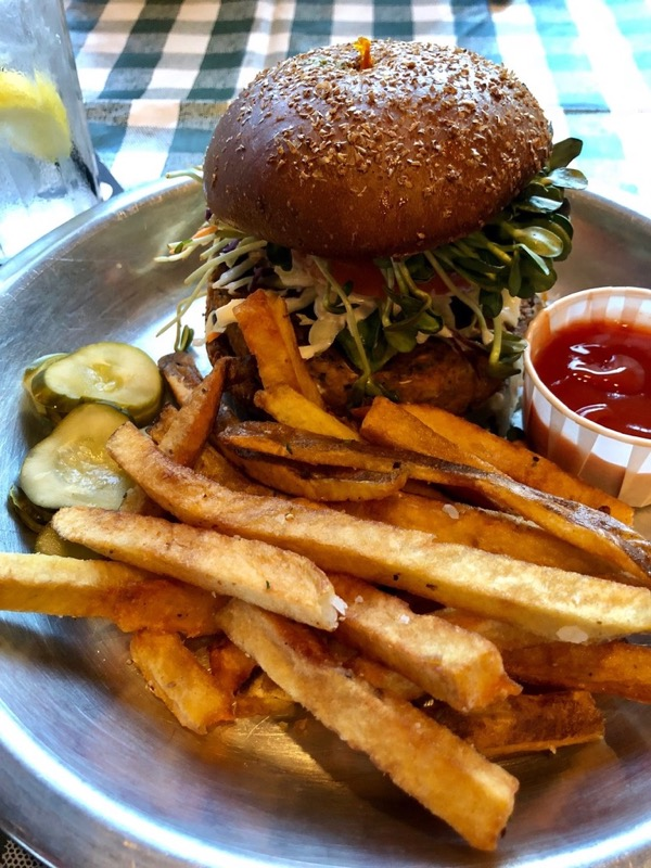 Rodeo Goat vegan burger