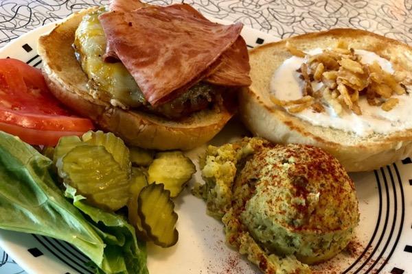 Spiral Diner vegan burger
