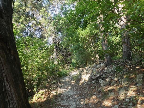 Dogwood Canyon Audubon Center's rocky landscape