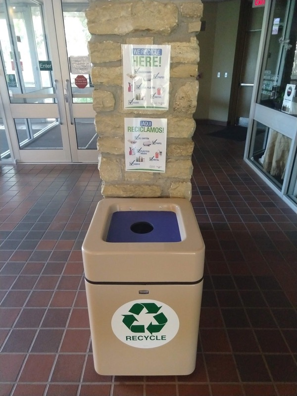 Fort Worth Botanic Garden recycling bin