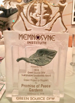 Promise of Peace Gardens award