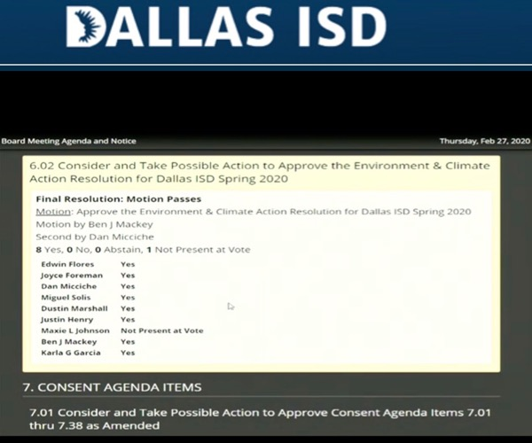 Dallas ISD vote
