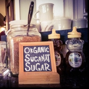 Organic sugar at Habitat Suites