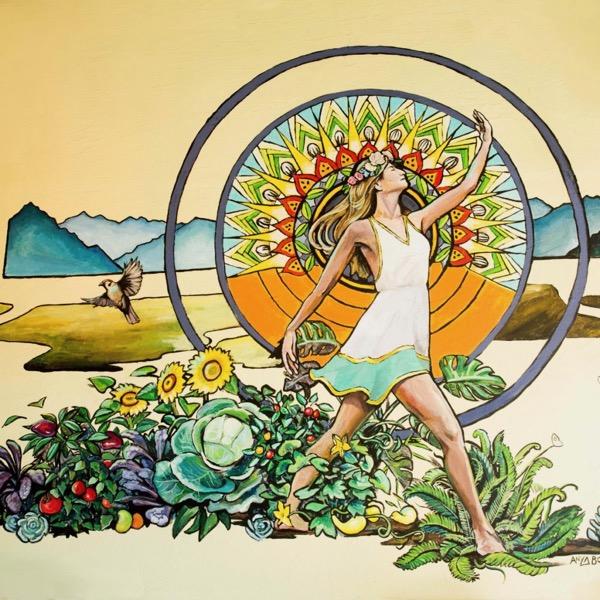 Healthy Hippie mural