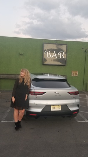 Rita Cook with 2019 I-PACE Jaguar