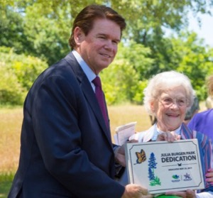 Mayor Jeff Williams honors Julia Burgen