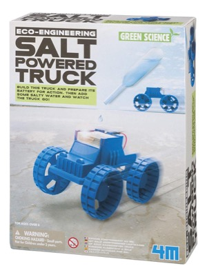 Salt-powered truck