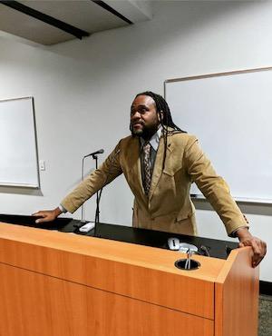 Marcus Russell speaks at Dallas Sierra Club