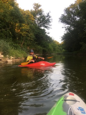 Kayaker on Mary's Creek