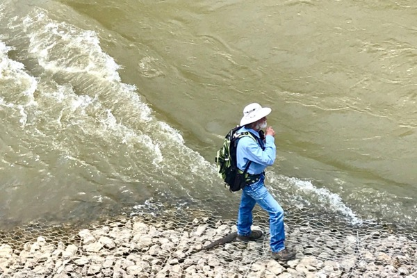Scott Hudson on the Trinity River