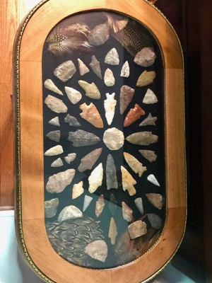 Mick Tune's arrowhead collection