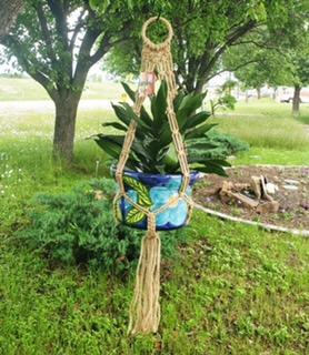 Macrame pot holder from Marshall Grain