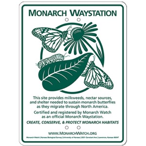 Monarch Waystation sign