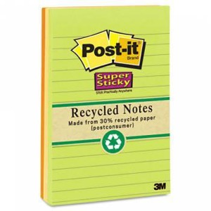 Post it recycled notes