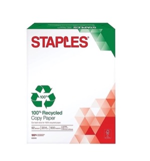 Staples Recycled Paper