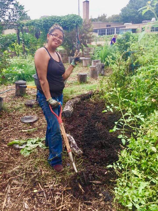 POP Garden manager Elizabeth Morgan