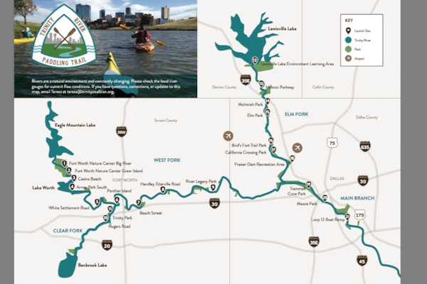 Trinity River Paddle Trail map