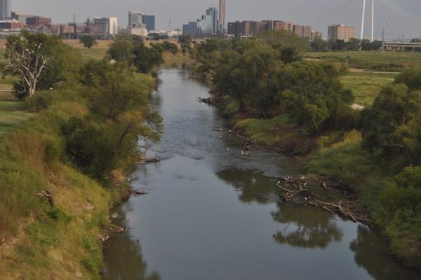 Trinity River and Dallas skyline