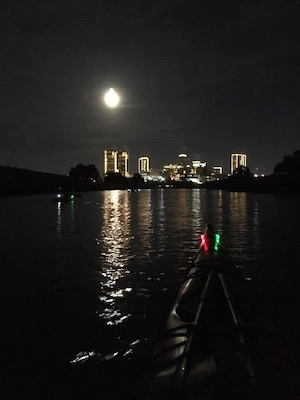 Moon rise over Fort Worth