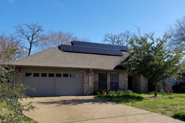 Solar install in College Station