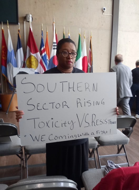 Olinka Green at Southern Sector Rising press conference