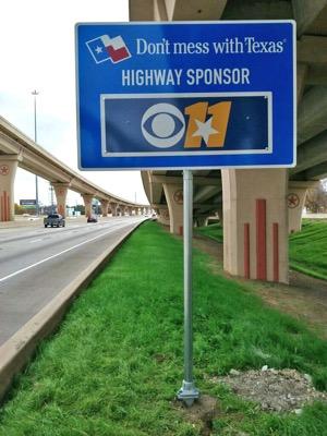 Sponsor a Highway sign
