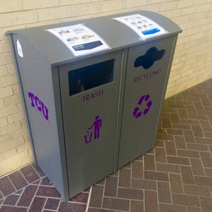 TCU recycling bins