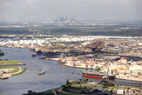 Houston ship channel. Texas Tribune