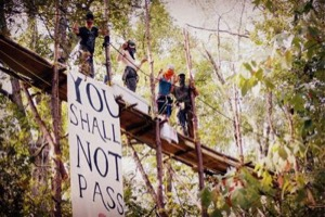 Tar Sands Blockade protestors in East Texas