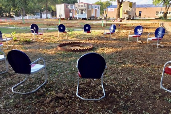 Lake Dallas Tiny Home Village camp circle