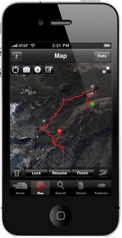 Trailhead by Northface app