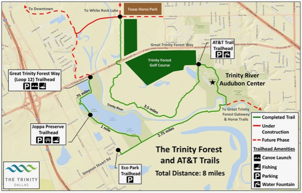 Trinity Forest & AT&T Trail 2015 map