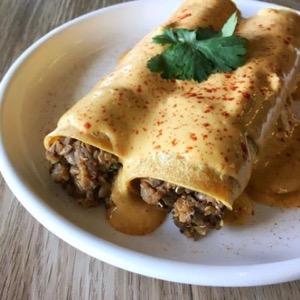 Nature's Plate vegan enchiladas