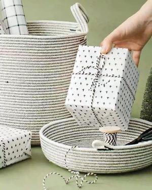 Tethermade cotton baskets