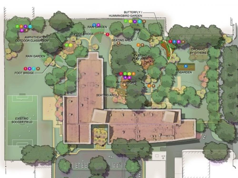 Ordinaire Design For The Onesimo Hernandez Elementary Campus In Dallas, One Of Two  Pilot Schools In The Cool Schools Program. Courtesy Of Texas Trees  Foundation.