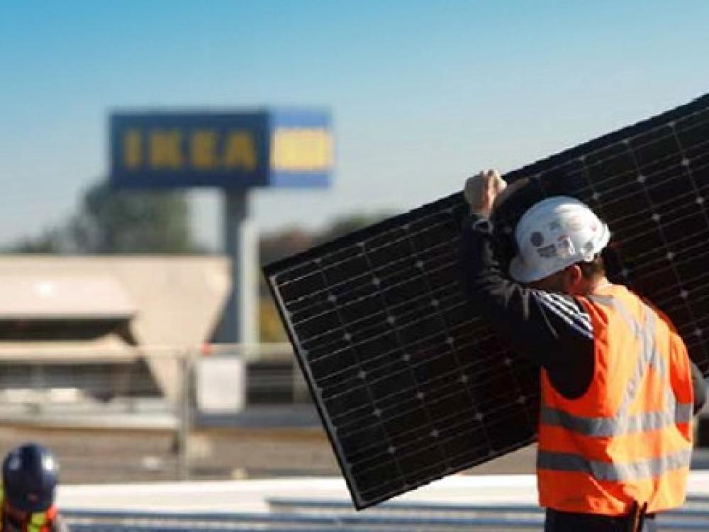 Ikea to install solar panels atop new grand prairie store for Ikea grand prairie jobs