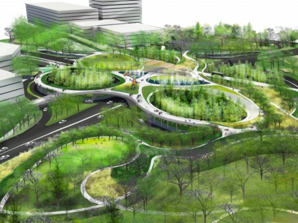 Greening Of Southwest Bike Path >> Green Overhaul Proposed For Dallas Medical District Greensource Dfw